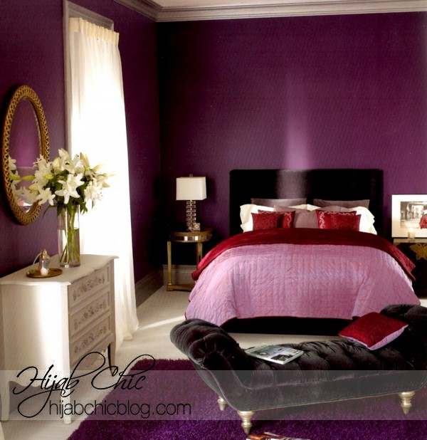 Luxury-Purple-Paint-Color-For-Small-Bedroom-With-Headboard-Ideas-And-Lovely-White-Shades-Covering-Windows-And-White-Cabinet-With-Drawers-Ideas-915x942