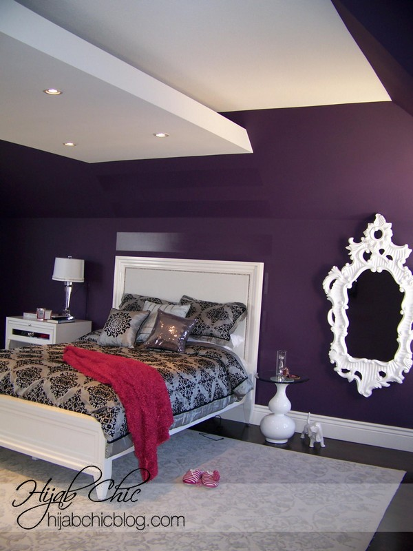 Purple bedroom inspiration design ideas for Purple and white bedroom designs