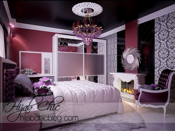 Elegant Bedroom Designs Teenage Girls purple bedroom inspiration design ideas