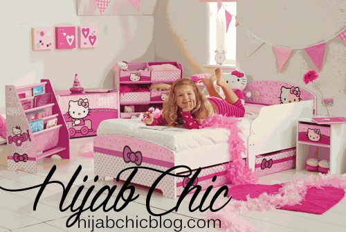 Hello-Kitty-Room-Decorations-With-White-Walls