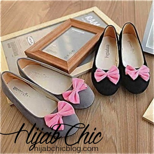 cute-black-flats-with-bowshoes--bow-grey-black-pink-ballerinas-flats-pink-bow-cute-3wam1hr1