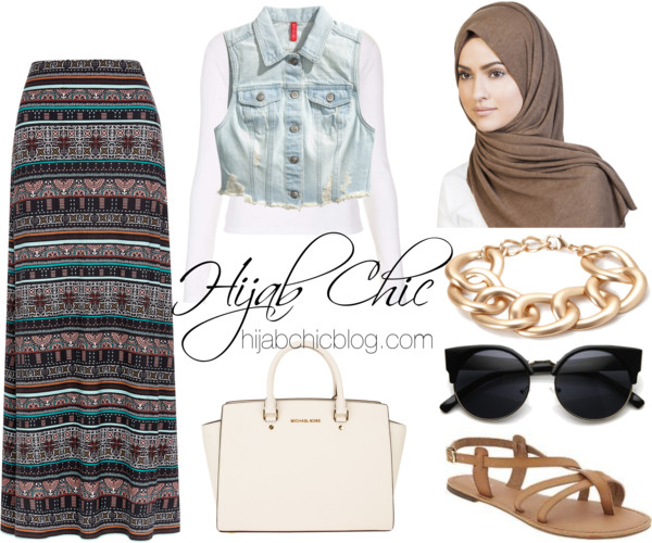 Hijab Chic: Monsoon long maxi skirt