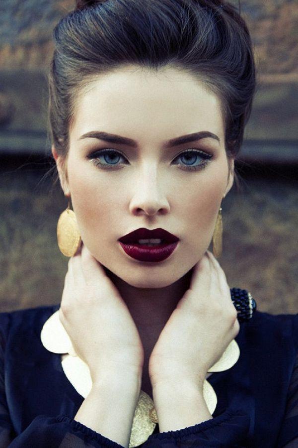 Autumn Trends: Burgundy Makeup